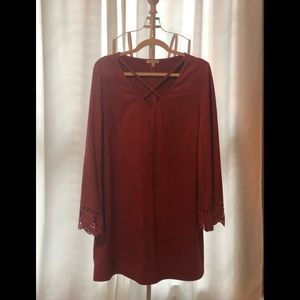 Boutique Suede Tunic